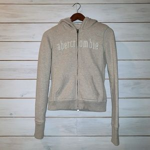 abercrombie heavyweight zip up hoodie youth XL